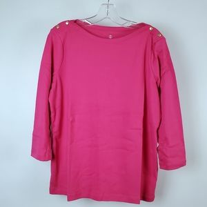 Land's End pink Blouse   B